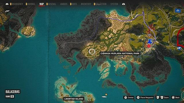 Venodiente crocodile map location.