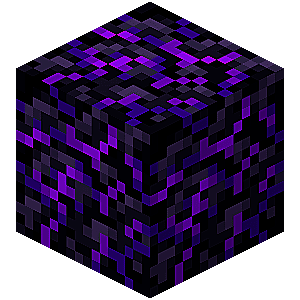 Crying Obsidian block in Minecraft.