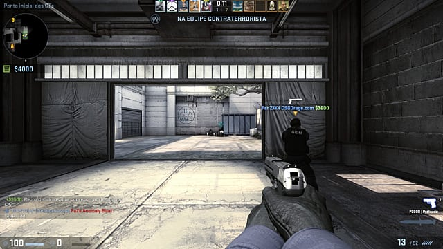 Two players working as a team in CS:GO