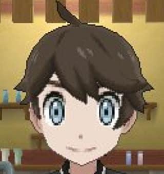 A male Pokemon trainer with dark brown hair