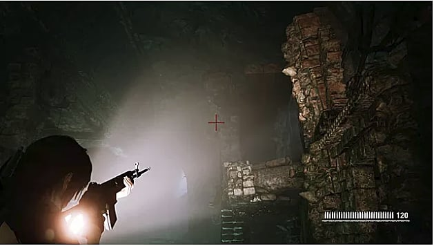The location of the second whistle in the dark challenge