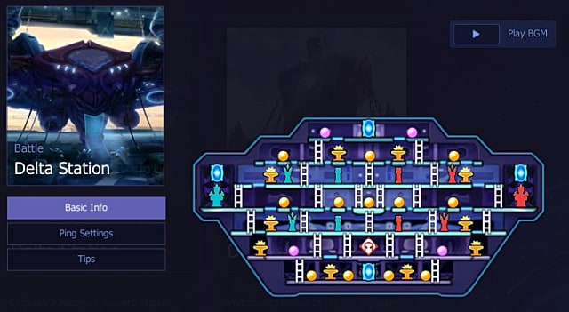 Delta Station map in Hyper Universe