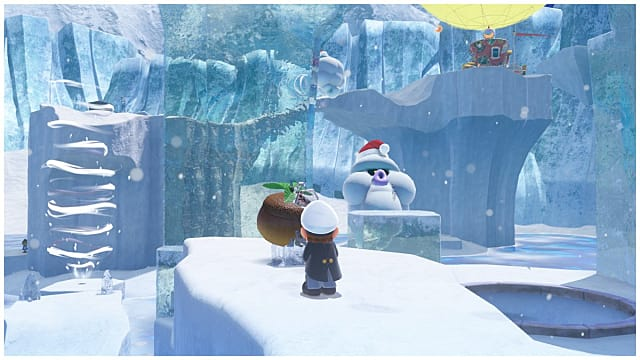 Grinding Gold Coins in the Snow Kingdom Super Mario Odyssey Guide