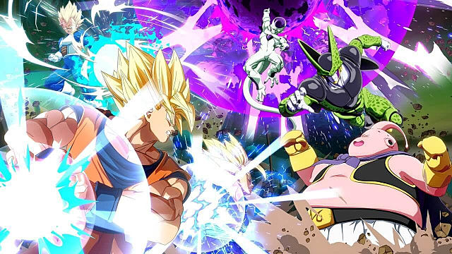 Dragon Ball FighterZ super warrior arc fighters going at it