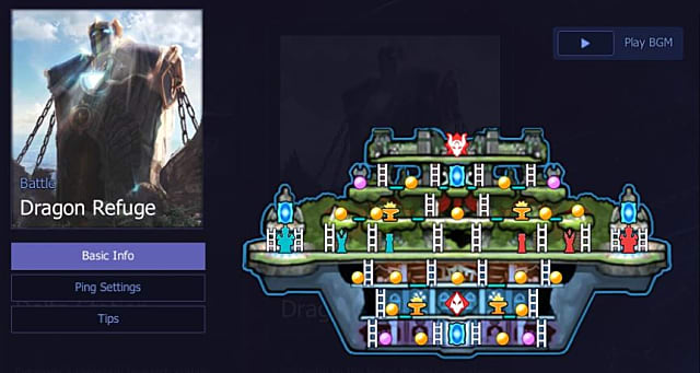 Dragon Refuge map in Hyper Universe