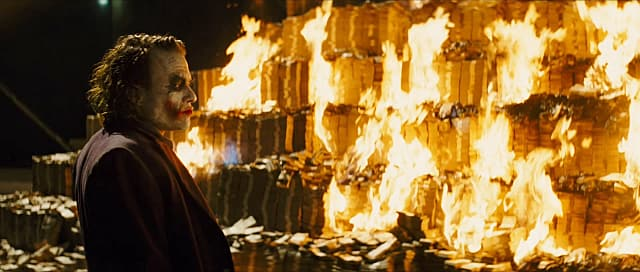 Buying a PSVR can at first seem like this scene of the Joker in The Dark Knight, where he sets all his money on fire