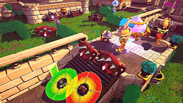 Towers and traps the castle map in Dungeon Defenders Awakened.