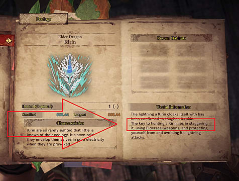 Monster Hunter World lore book