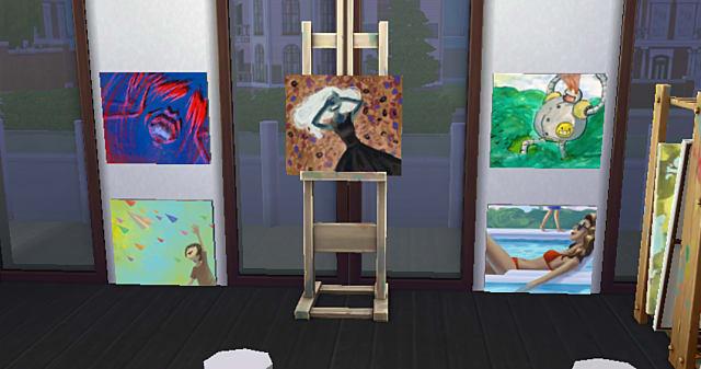 Various Sim paintings.