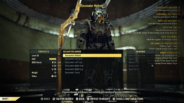 Increase Carry Weight with the Excavator Power Armor Quest in Fallout 76