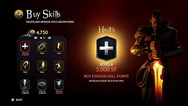 Exctinction's skills page