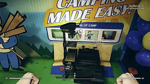 Time to camp in Fallout 76
