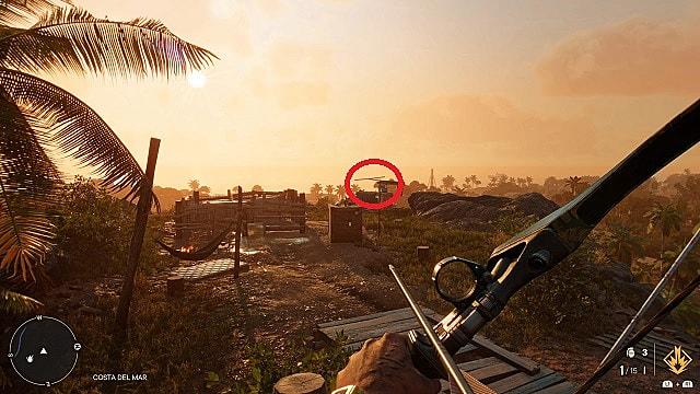 Screenshot of El Aguila's in-game location.