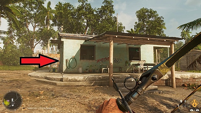 Screenshot of La Bestia Blanca in-game location.
