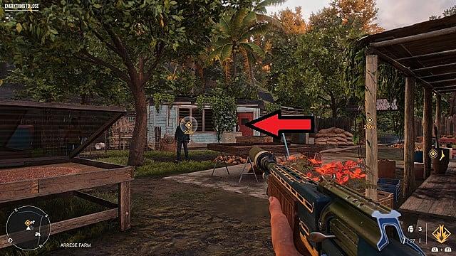 Screenshot of El Gallo Magnifico's in-game location.