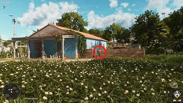 Screenshot of El Pico's in-game location.