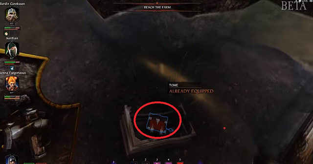 Finding the third tome in a box for the against the grain objective