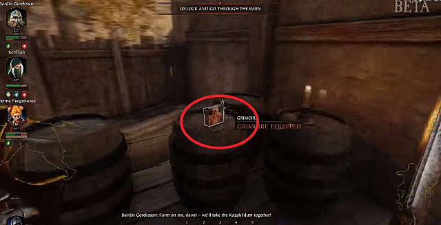 The location of the first grimoire in the against the grain objective