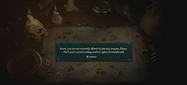 At least the errors in Sea of Thieves are clever.