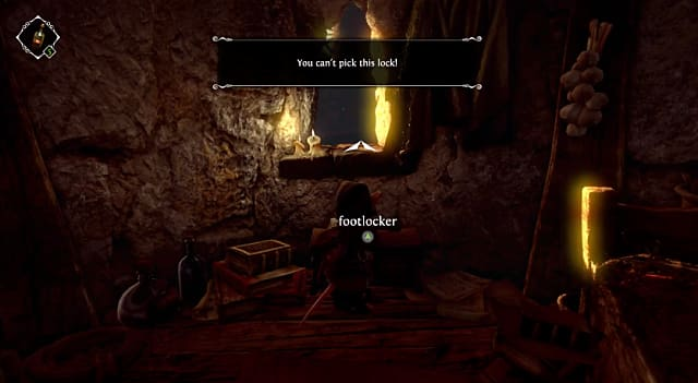 A message saying a lock can't be picked in Ghost of a Tale