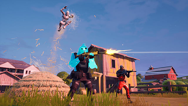Stealth attack from a haystack in Fortnite Chapter 2 Season 1