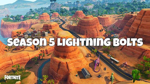 fortnite lightning bolt locations guide - fortnite lightning bolts