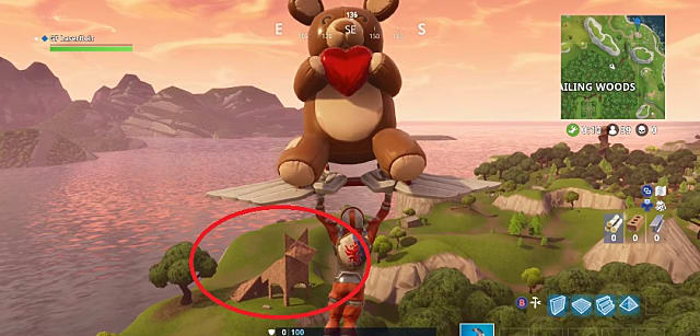 Where is the fox in Fortnite, you ask? Why, iust head to the east of Wailing Woods