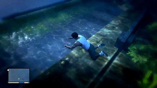 franklin hovers over an ocean wreck in GTA 5 where an infinite money briefcase was