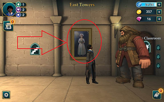 Free Unlimited Energy location in the East Towers of Hogwarts