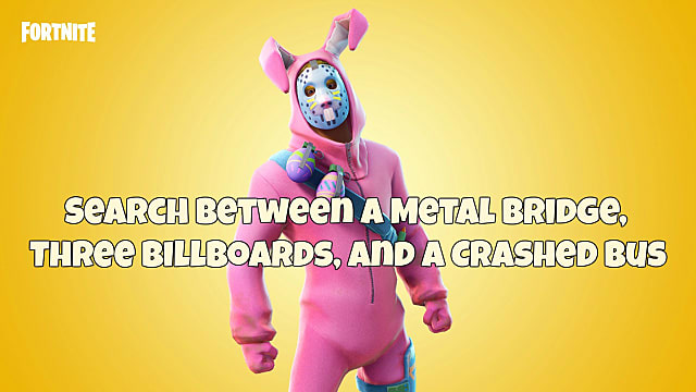 - metal bridge three billboards crashed bus fortnite