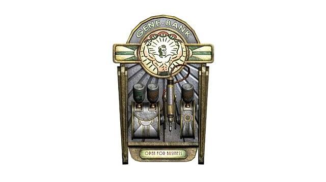 A Gene Bank vending machine in Bioshock
