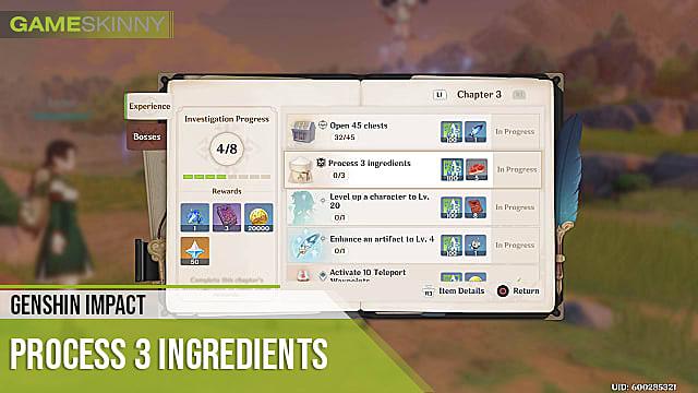 Genshin Impact How To Process 3 Ingredients Genshin Impact