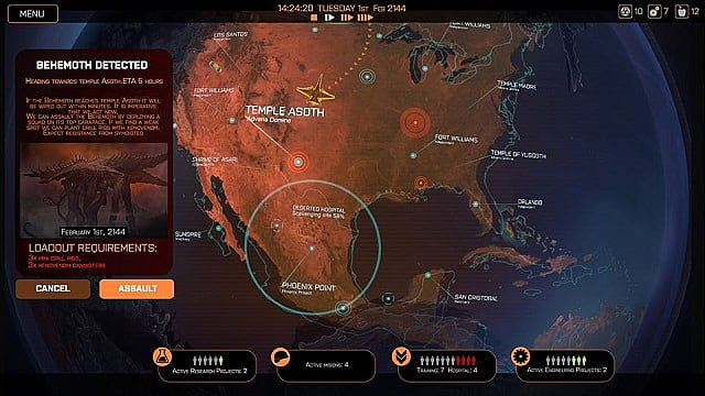 An overview of The Geoscape in strategy game Phoenix Point