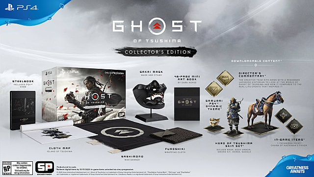 Ghost of Tsushima Collector's Edition content and bonuses.