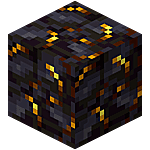 A gilded blackstone block.