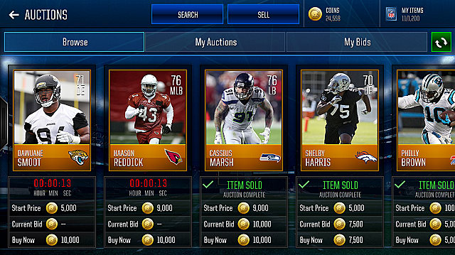 Madden 18 Mobile Auction House