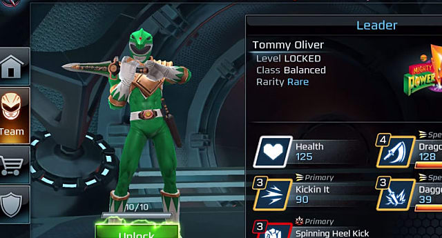 Power Rangers, Green, Ranger, Legacy Wars, skills
