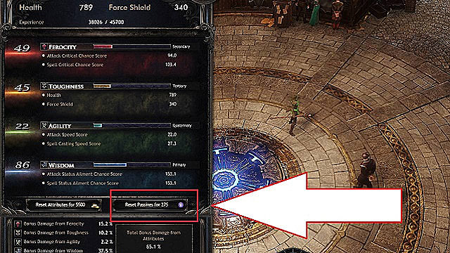 Reset Gate of Fates nodes in Wolcen by spending primordial affinity.