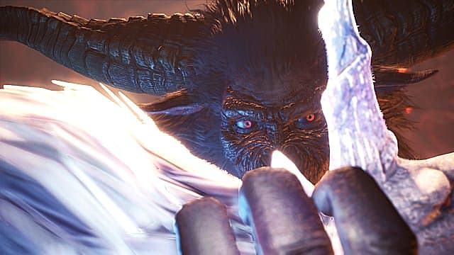 Rajang grips Kirin in Monster Hunter: World Iceborne.