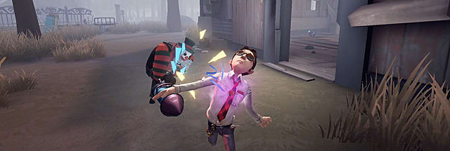 Identity V Survivor getting hit by Hunter