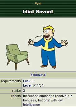 Idiot Savant Is The Best Way To Play Fallout 4 Fallout 4