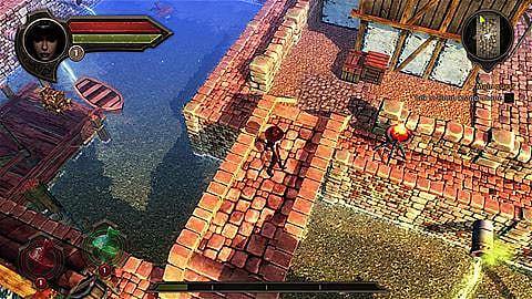 screen shot from Korgan revealing its shoddy graphics