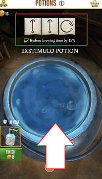 A potion master note in Harry Potter Wizards Unite