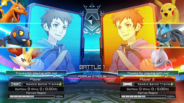 Local Multiplayer and Single Player Team Battles Pokken Tournament DX