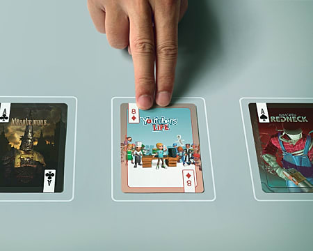 Indie video games in poker deck