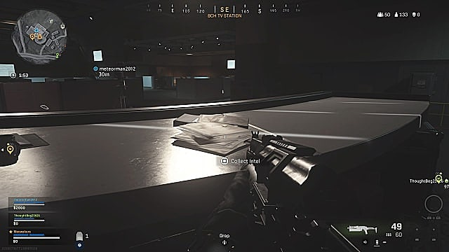Fractured Intel 1 in-game location TV Station.