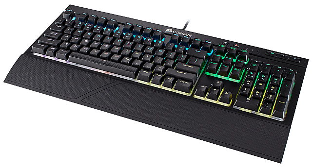 Corsair K68 RGB Mechanical Keyboard angled view