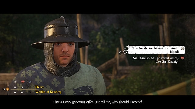 Henry speaks with Wolfin of Kamberg