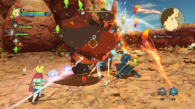 Combat raging in Ni No Kuni II: Revenant Kingdom