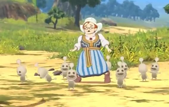 Martha and a bunch of Higgledies in Ni No Kuni II Revenant Kingdom